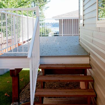 Deck railing with stairs