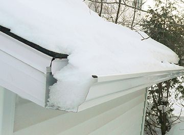 Snow filled gutter