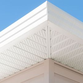 White gutters & soffit